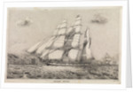 Water Witch Opium Clipper barque built by Kidderpore 1831, shown 1856 off China coast by F G Hely