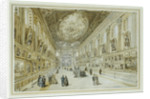 View of the Naval Gallery in the Painted Hall, Greenwich Hospital, in 1865 by L. H. Michael