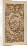 Drawing for the ceiling of the Painted Hall with key to figures on reverse by James Thornhill