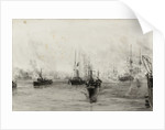 HMY 'Alberta' Carrying the remains of Queen Victoria by William Lionel Wyllie