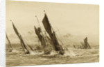 Barge match on the Thames by William Lionel Wyllie