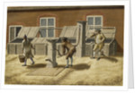Woolwich Arsenal circa 1750. The Pumps by unknown