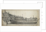English two-decker, possibly the 'Yarmouth', built in 1653 and broken up in 1680 by Willem van de Velde the Elder