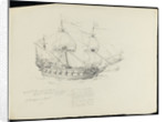 Sketch of HMS 'Caledonia' by Robert Strickland Thomas
