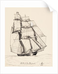 HMS 'Fair Rosamond' (ex-slaver 'Don Amigos') by Alfred Basil Lubbock
