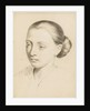 Study of the head and shoulders of a young woman with her hair swept back by Margaret Louisa Herschel