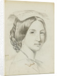 Study of the head and shoulders of a young woman with a middle parting by Margaret Louisa Herschel