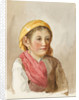 A young Italian peasant girl by Matilda Rose Herschel