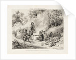 South African Sketches. Plate III. Breakfast Party of Kaffir Marauders detected by Charles Joseph Hullmandel