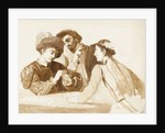 Sketch of Caravaggio's 'The Card Sharps' by unknown