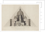 Geometrical Elevations [...] of the Cathedrals of Salisbury, Norwich, St Paul's London, St Peter's Rome, and the Great Pyramid of Egypt, to one scale.' by T. H. Clarke
