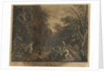 Saint John the Apostle preaching in the Wilderness by Salvator Rosa