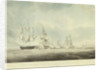 HMS 'Pallas' passing to windward of 'La Minerve' and 'La Lynx',  'Palinure' and 'Sylph' by Nicholas Pocock