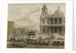 'Funeral Procession of the late Lord Viscount Nelson, from the Admiralty to St Paul's, London, 9th January 1806' by Augustus Charles Pugin [artist]; M. Merigot [engraver]; James Cundee [publisher]