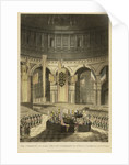 The Ceremony of Lord Nelson's Interment, in St Paul's Cathedral, Jany 9th 1806 by Holt Waring