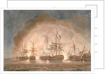 Victory over the French fleet in the Bay of Bequieres, 1 August 1798 by Nicholas Pocock