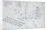 Plan of the French & Spanish Fleets blockaded by the English Fleet under the command of Earl St Vincent. January 1801 by Lt John Grey
