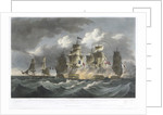 To Captain Z Mudge... of the... Blanche.. the gallant defence made by that Ship in the Sombero Passage on July 19th 1805 against a French Squadron... by F Sartorius (artist)