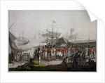 Wellington landing in 1809 at Lisbon to take command in the Peninsular War by unknown