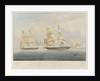 HM brig 'Black Joke' engaging the Spanish slave brig 'El Almirante' by William John Huggins