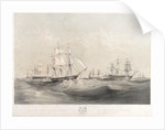 The English and French fleets in the Baltic, 1854 by Oswald Walter Brierly