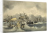 French ironclad in collision by Jean-Antoine Theodore Gudin