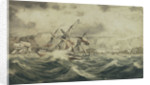 Situation of HMS 'Curacoa' off Toulon in the Winter of 1812 by Pearce