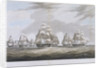 The East India Company's ship 'Inglis' leaving St Helena, in July 1830 by William John Huggins