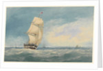 Watercolour of 'Medway' off Deal by unknown