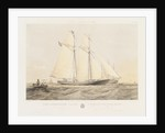 The schooner yacht 'Sverige' by Thomas Sewell Robins