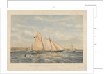 A lithograph of the schooner yacht 'Sylph' 107 Tons by Thomas Goldsworth Dutton