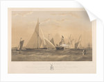 The Cutter Yacht Muriel,  40 Tons, Winning the Cup given by the Royal Albert Yacht Club, August 19th 1869 by Arthur Wellington Fowles