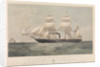 Sardinian screw steamship 'Genova' (It, 1859) belonging to the Transatlantic Steam Navigation Company of Genoa by Thomas Goldsworth Dutton