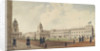 Greenwich Hospital viewed from the north and showing pensioners, 1830 by W. Porden Kay