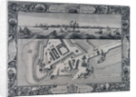 A geometrical plan & west elevation HM dockyard and garrison at Sheerness with the Ordnance Wharf by Thomas Milton
