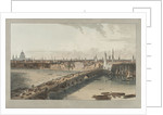 London, showing St Paul's Cathedral, London Bridge and the River Thames by William Daniell