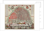 Map of Amsterdam with inset view by Carel Allardt