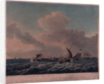 View of the port of Helvoetsluys, Holland by S. Hutchinson