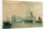 Opium ships at Lintin in China, 1824 by William John Huggins