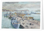 Campbeltown harbour, Scotland, April 1944 by Stephen Bone