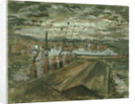 Transport ships coaling in Cardiff docks by John Piper