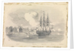 5. Capture of Ningpo, showing salt Gate, Dr Palmer's House HMS Encounter, North Gate, HMS 'Ringdove' by SSE