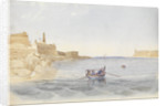 Fort St Elmo and the entrance to the Grand Harbour, Malta, 20 March 1852 by George Pechell Mends