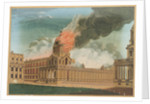 Greenwich Hospital - The Chapel burning, 2 January 1779 by E. Edye