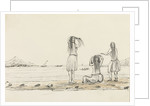 Rough sketch of native girls bathing by Harry Edmund Edgell