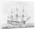 British 90-gun ship, 1766-1777 by Robert Pollard