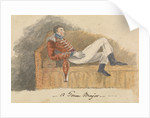 Soldier in uniform lounging on a sofa by Robert Streatfeild