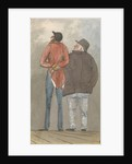 Two figures, one tall and thin, the other shorter and plump, seen from behind by Robert Streatfeild