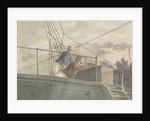 Two sailors on an upper deck, seen from below by Robert Streatfeild