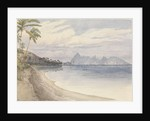 Eimeo [Moorea] from near Papeiti [Tahiti, Society Islands], Augt 25th 1849 by Edward Gennys Fanshawe